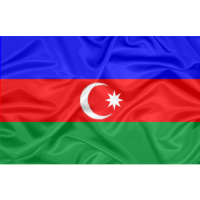 Bandeira do Azerbaijão com Bordado Aplicado Dupla Face